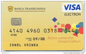 card visa banca transilvania