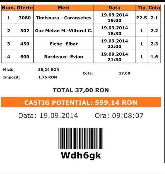 Bilet Paul 19 septembrie 2014