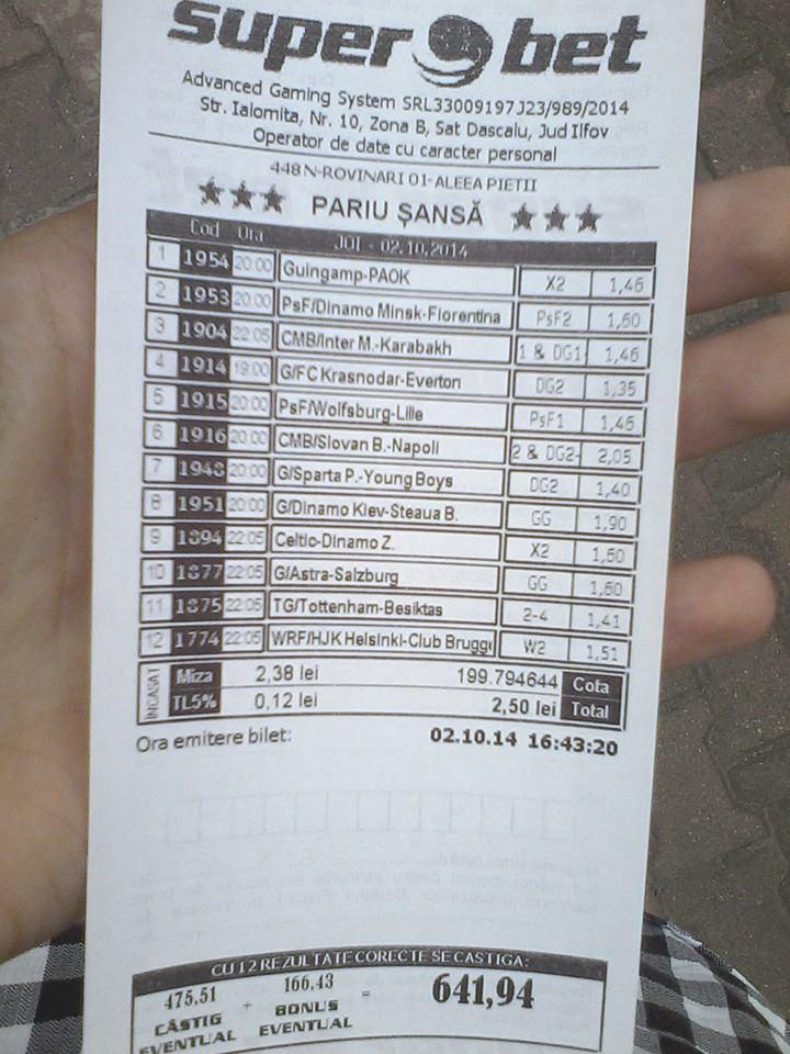 bilet madalin 02.10