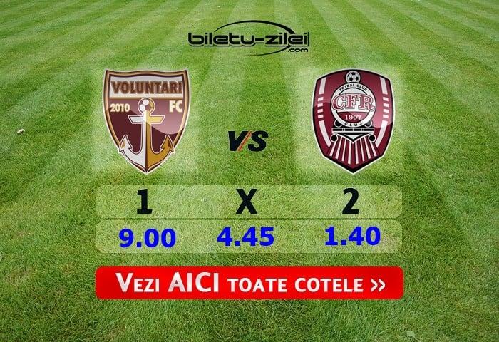 Ponturi pariuri FC Voluntari – CFR Cluj