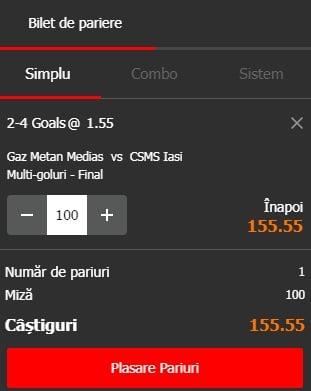 Gaz Metan vs Poli Iasi ponturi pariuri - Romania Liga 1 - 14 mai 2019 Ponturi pariuri Ponturi pariuri Romania Liga 1 Betano