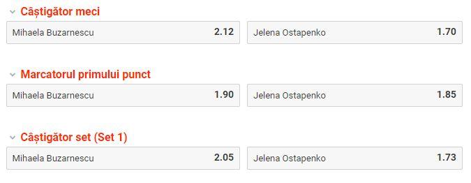 Mihaela Buzarnescu vs Jelena Ostapenko ponturi pariuri WTA Roma 14 mai 2019 Ponturi pariuri Ponturi tenis