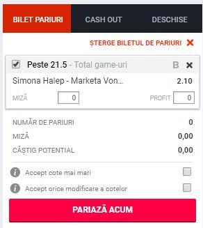 Simona Halep vs Marketa Vondrousova ponturi pariuri WTA Roma 16 mai 2019 Ponturi pariuri Ponturi tenis