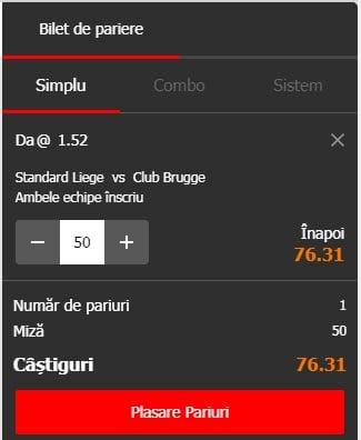 Standard Liege vs Club Brugge ponturi pariuri - Belgia First Division A - 16 mai 2019 Ponturi Fotbal Ponturi pariuri