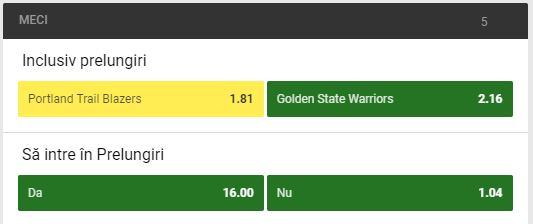 Portland Trail Blazers - Golden State Warriors (meciul 3) - NBA Playoffs Ponturi Baschet Ponturi pariuri
