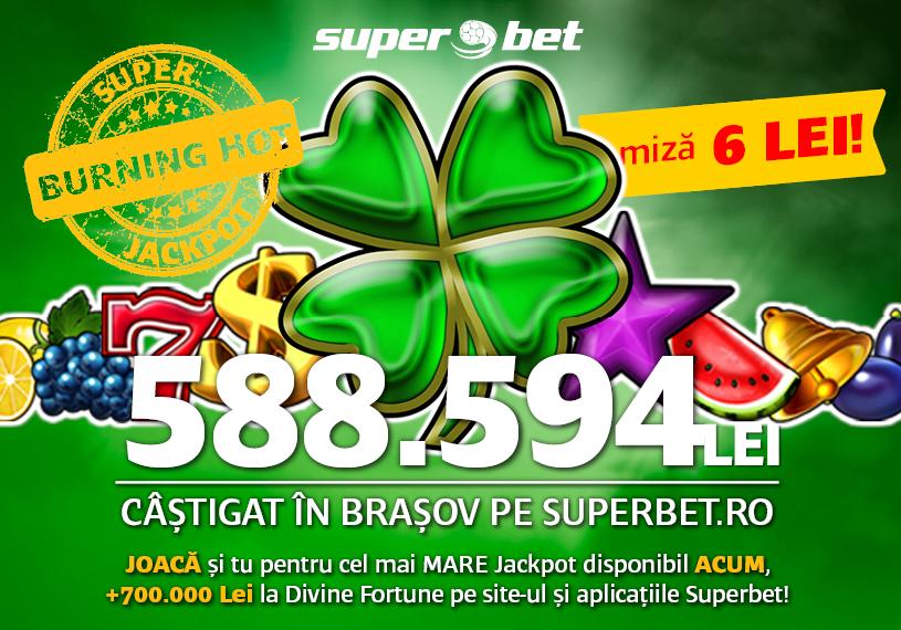 Jackpot castigat la superbet in valoare de aproape 600000 mii ron castigat de un brasovean