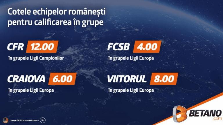 Ce sanse au echipele romanesti in cupele europene in acest sezon?