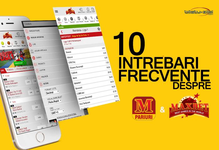 10 intrebari frecvente despre MaxBet pariuri sportive & casino