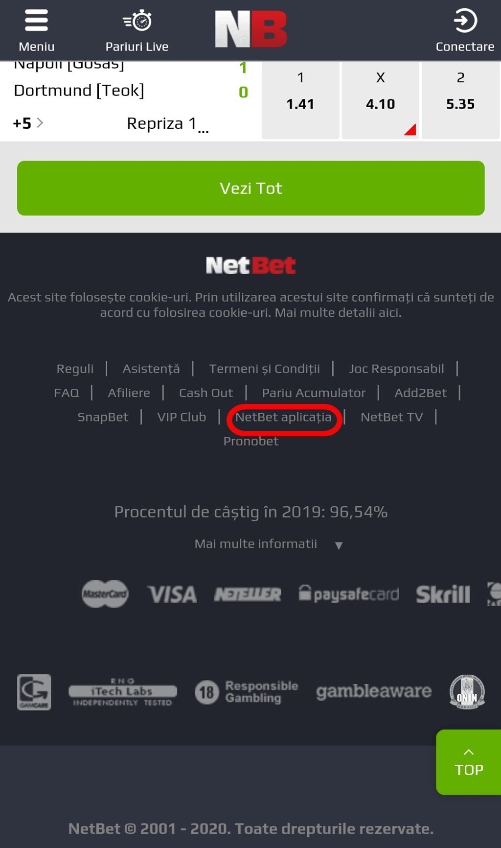 Netbet Mobil App