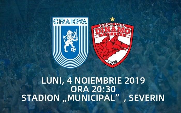 Universitatea Craiova - Dinamo pronosticuri 04.11.2019