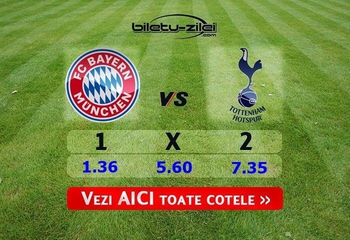 Pronosticuri Bayern Munchen - Tottenham