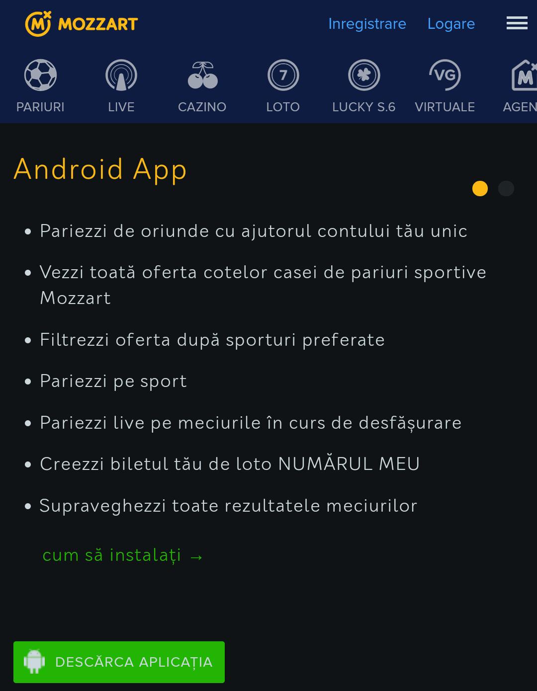 mozzart android app