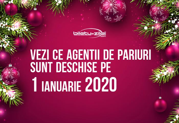 program agentii pariuri 1 ianuarie 2020