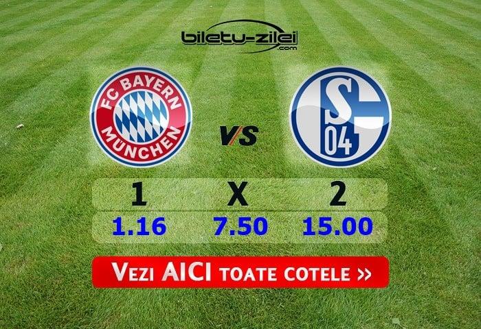 Bayern - Schalke ponturi pariuri 25.01.2020