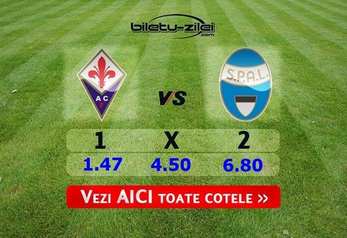 Fiorentina - SPAL ponturi pariuri 12.01.2020