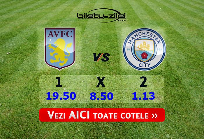 Aston Villa - Manchester City ponturi pariuri 01.03.2020