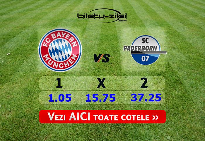Bayern - Paderborn ponturi pariuri 21.02.2020
