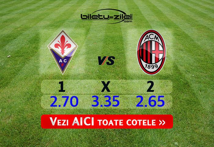 Fiorentina - AC Milan ponturi pariuri 22.02.2020
