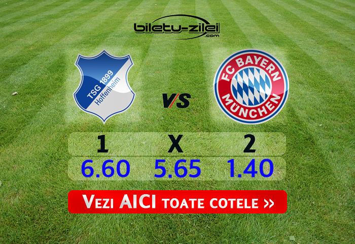 Hoffenheim - Bayern ponturi pariuri 29.02.2020