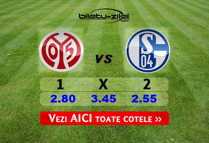 Mainz - Schalke ponturi pariuri