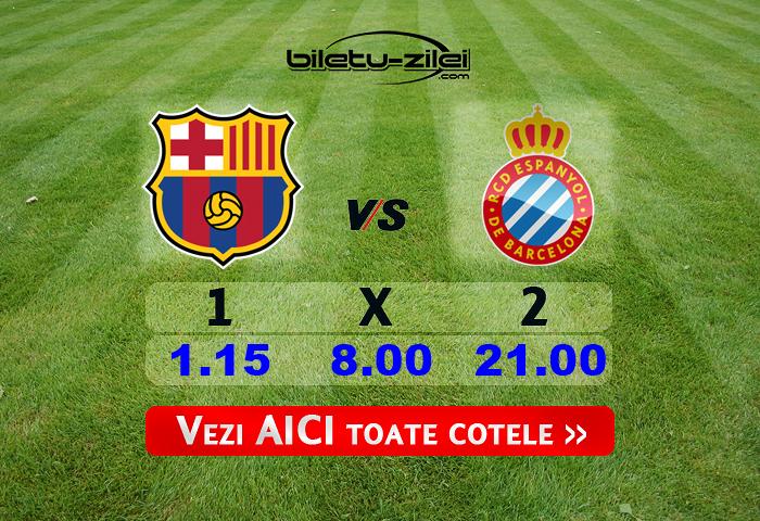 Barcelona Espanyol Cote Pariuri 08072020