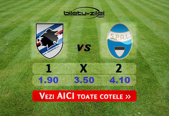 Sampdoria Spal Cote Pariuri 05072020