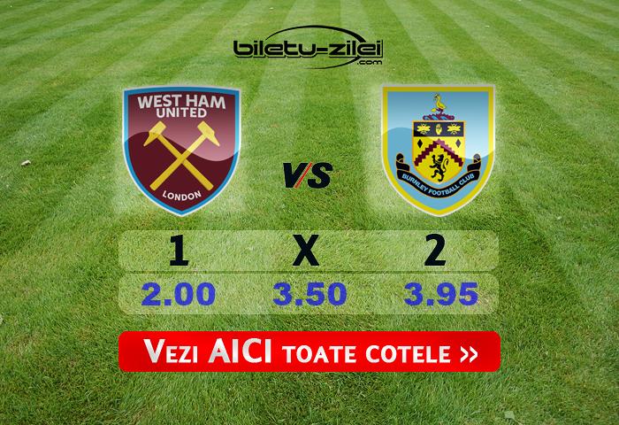 West Ham Burnley Cote Pariuri 08072020