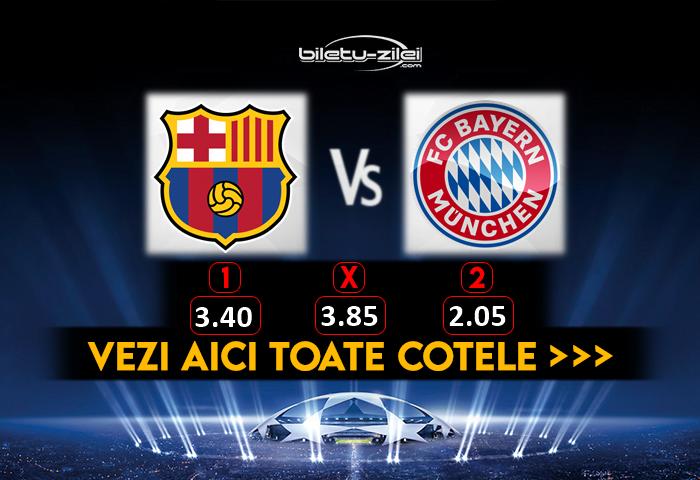 Barcelona Bayern Cote Pariuri 14082020
