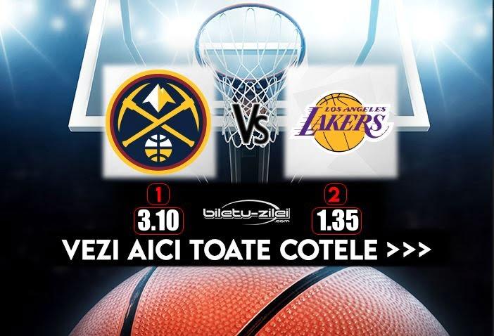Nuggets Lakers Cote Pariuri 25092020