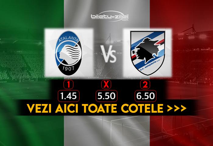 Atalanta Sampdoria Cote Pariuri 24.10.2020