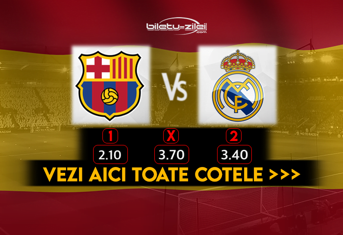Barcelona Real Madrid Cote Pariuri 24102020