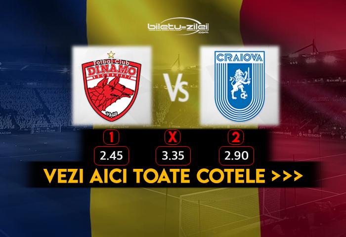 Dinamo Craiova Cote Pariuri 18.10.2020