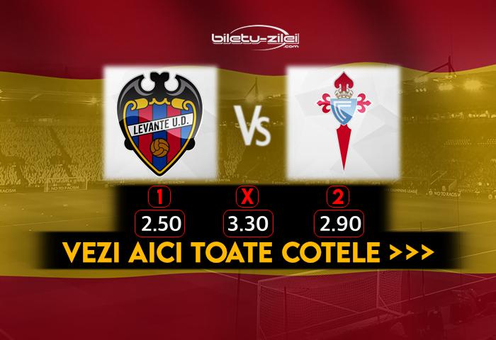 Levante Celta Vigo Cote Pariuri 26.10.2020