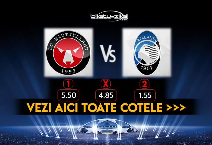 Midtjylland Atalanta Cote Pariuri 21.10.2020