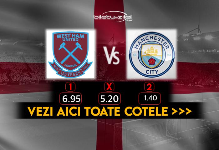 West Ham Manchester City Cote Pariuri 24102020