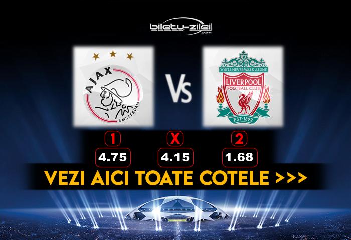 Ajax Liverpool Cote Pariuri 21102020