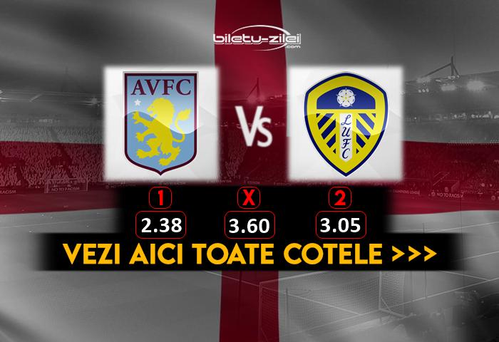Aston Villa Leeds Cote Pariuri 23102020