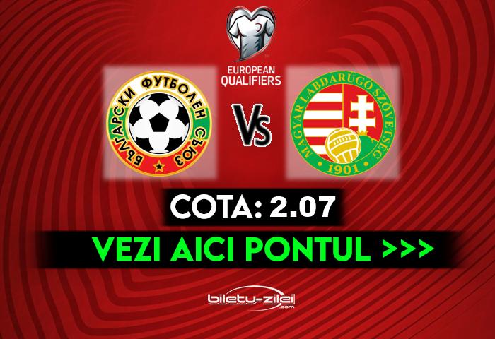 Bulgaria – Ungaria ponturi pariuri 08.10.2020
