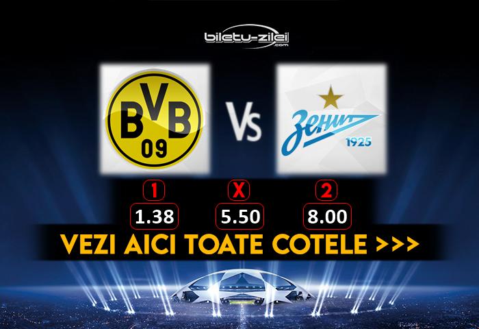 Dortmund Zenit Cote Pariuri 28102020