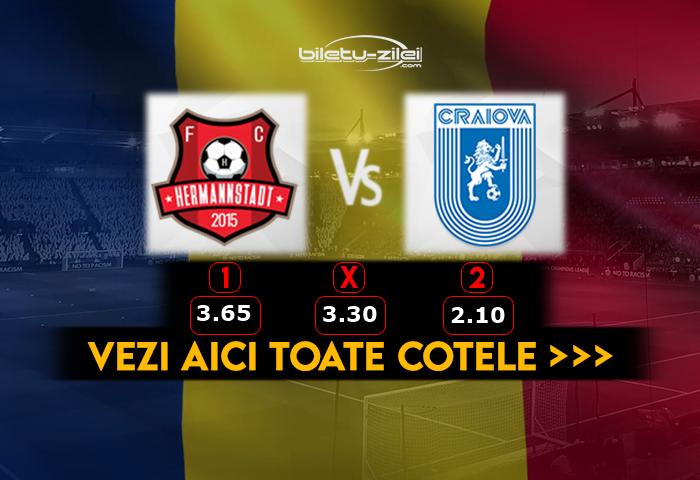 Hermannstadt Craiova ponturi fotbal