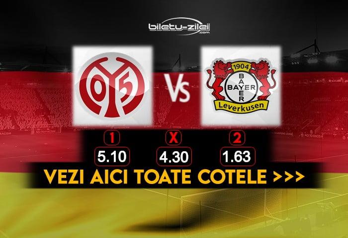 Mainz Leverkusen Cote Pariuri 17102020