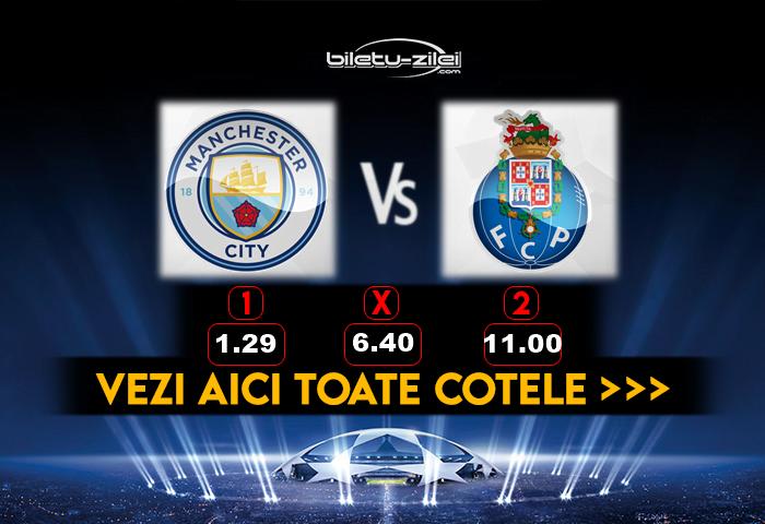 Manchester City Porto Cote Pariuri 21102020