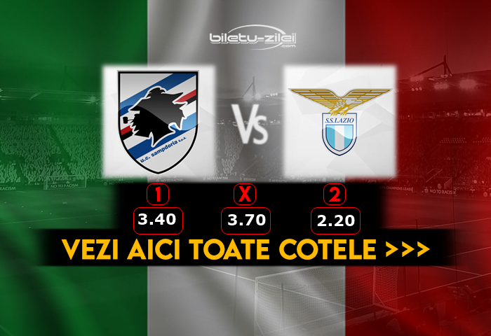 Sampdoria Lazio ponturi pariuri