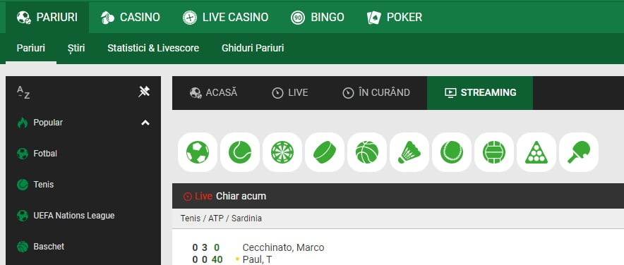 Unibet Streaming Live