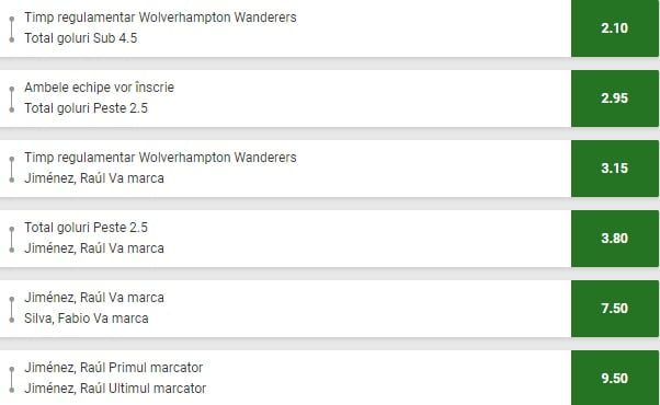 Wolves Crystal Palace pariuri