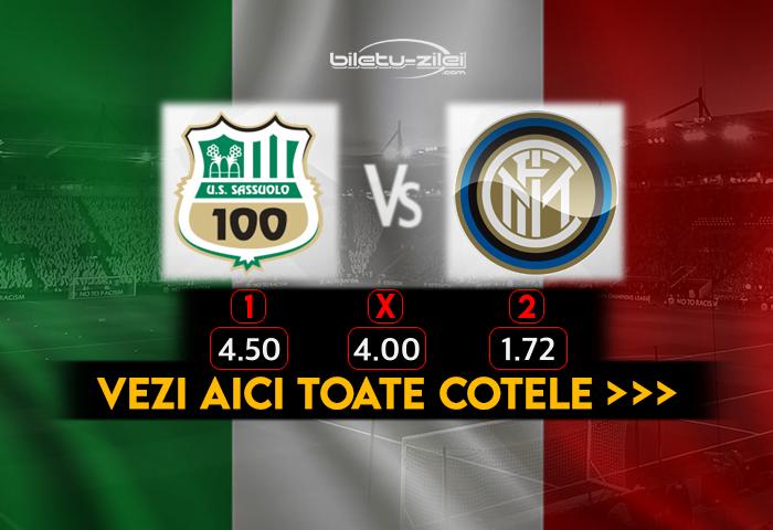 Sassuolo Inter Cote Pariuri 28112020