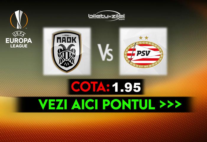 PAOK – PSV ponturi pariuri 05.11.2020