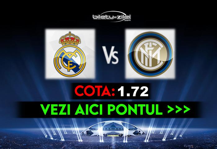 Real Madrid – Inter ponturi pariuri 03.11.2020