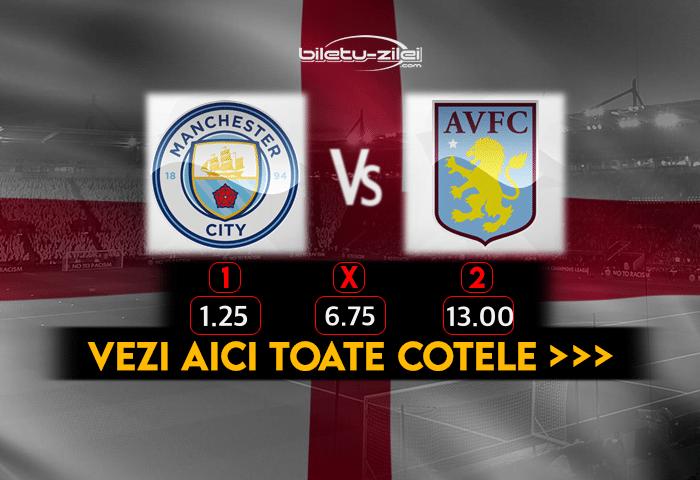 Manchester City Aston Villa Cote Pariuri 20012021