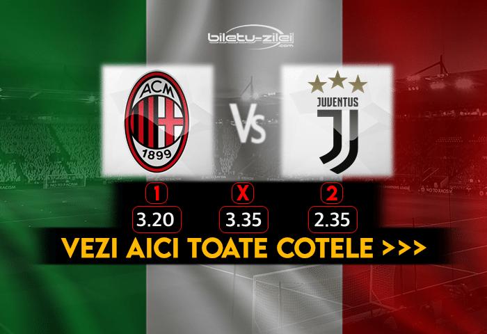 Milan Juventus Cote Pariuri 06012021